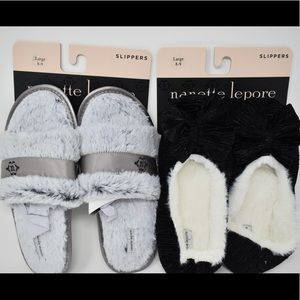 Nanette Lepore slippers Large (8-9) 2 pairs